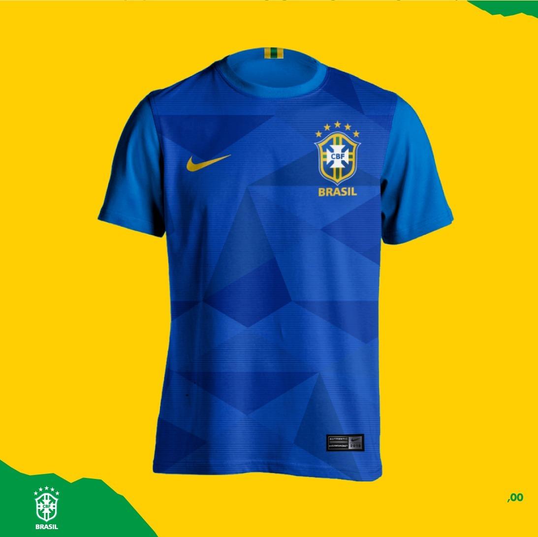 camisa azul seleção brasileira personalizada nome e número. Carregando zoom. 4b3f678c01c31