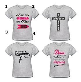 5094facd1 Kit 10 Camisetas Frases Evangélicas Atacado - Camisetas e Blusas com o  Melhores Preços no Mercado Livre Brasil
