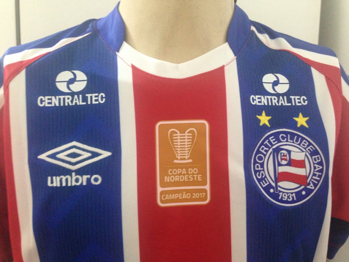 Camisa Bahia 2017 18 Umbro Copa Nordeste Edigar Junio  11 - R  199 ... 9698e8ac22659