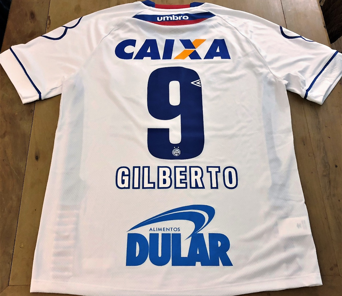 Camisa Bahia Copa Do Nordeste 2018 De Jogo Gilberto  9 - R  429 b7f30e9c5a0ca