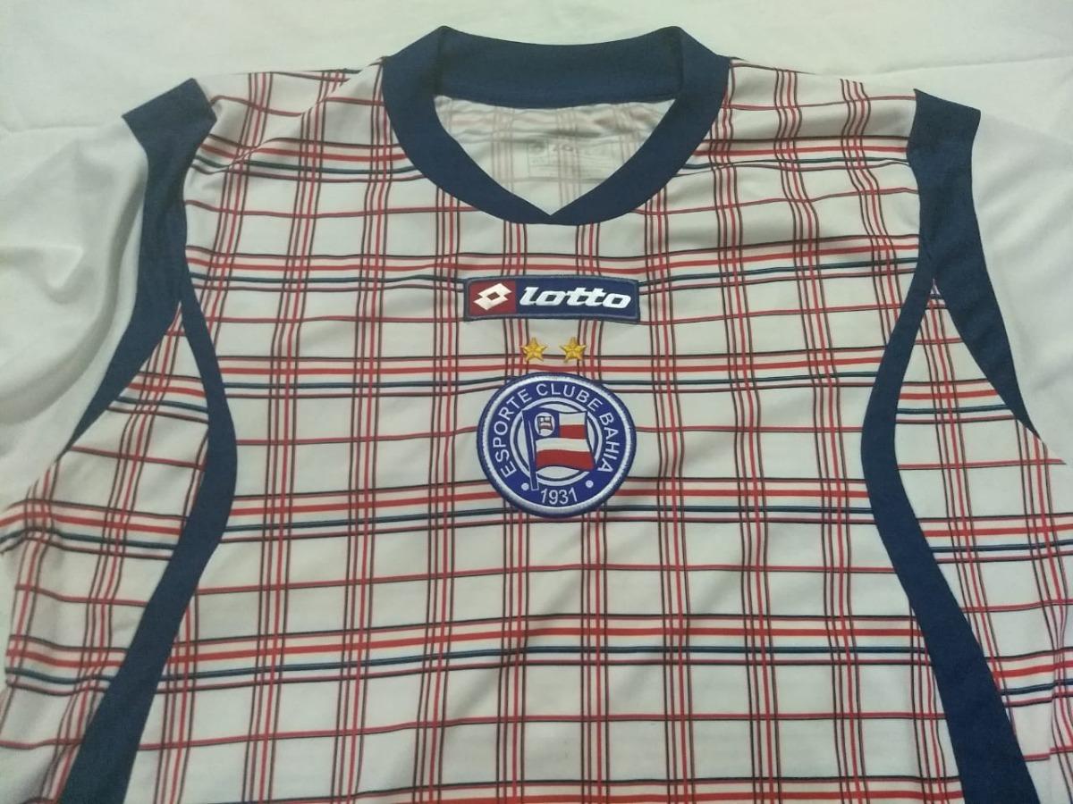 Camisa Bahia Rara - Uniforme Treino Xadrez 2011 - R  100 3304d6f887972