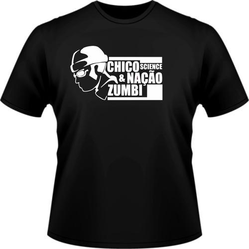 camisa banda preta rock chico science e nação zumbi