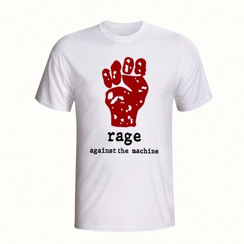 camisa banda rage against the machine camiseta rock rap