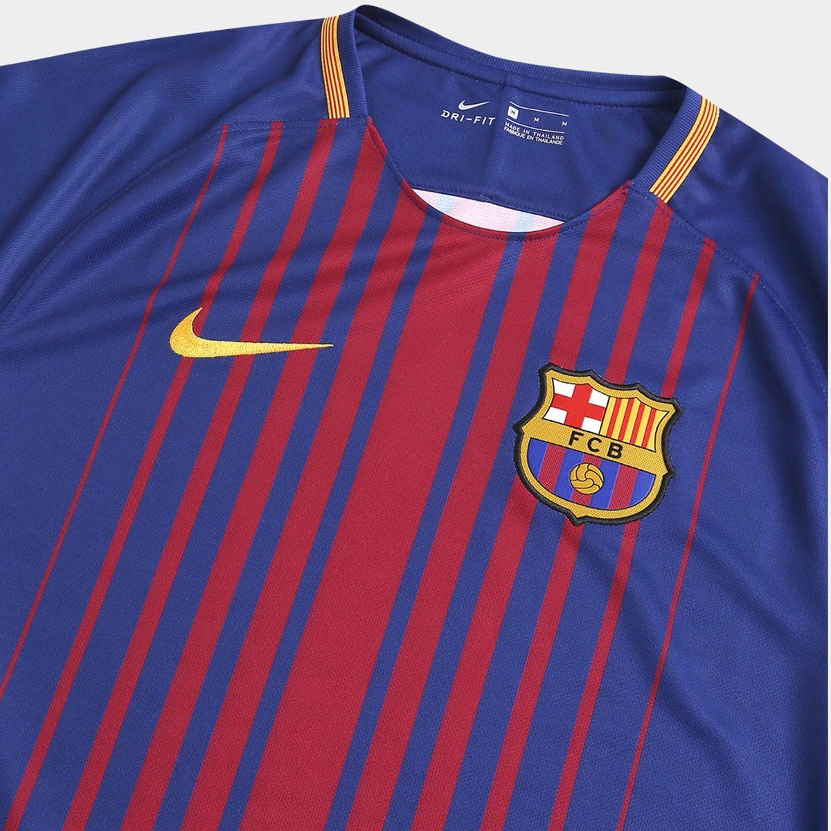 65318d0bcbcd6 camisa barcelona 17 18 messi 10 original. Carregando zoom.