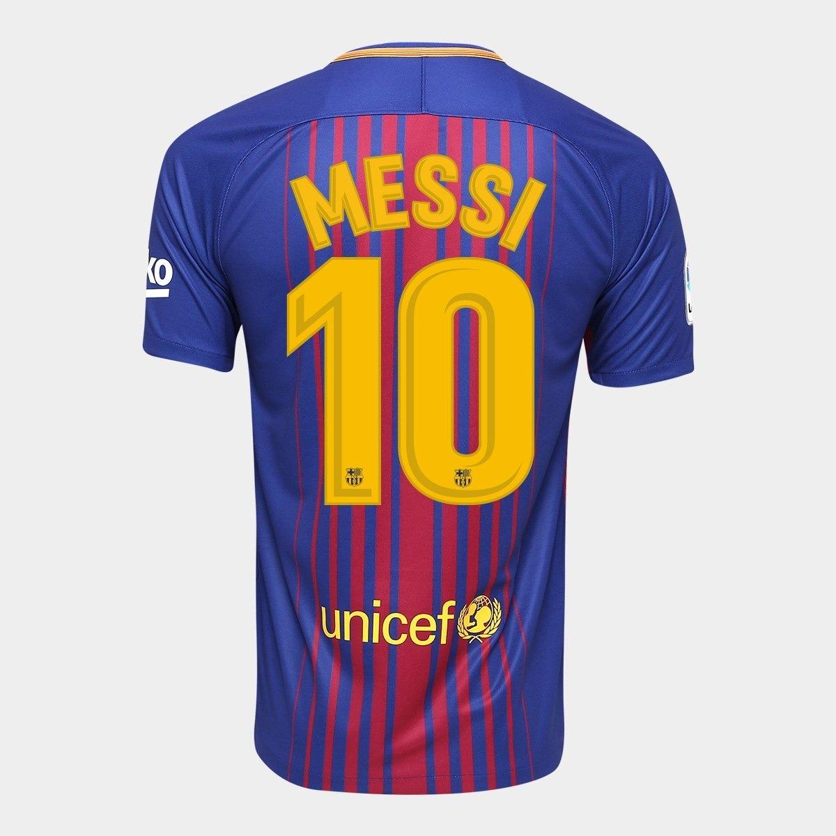 b60ec2fe4399e camisa barcelona 17 18 messi 10 torcedor promoção relâmpago. Carregando  zoom.