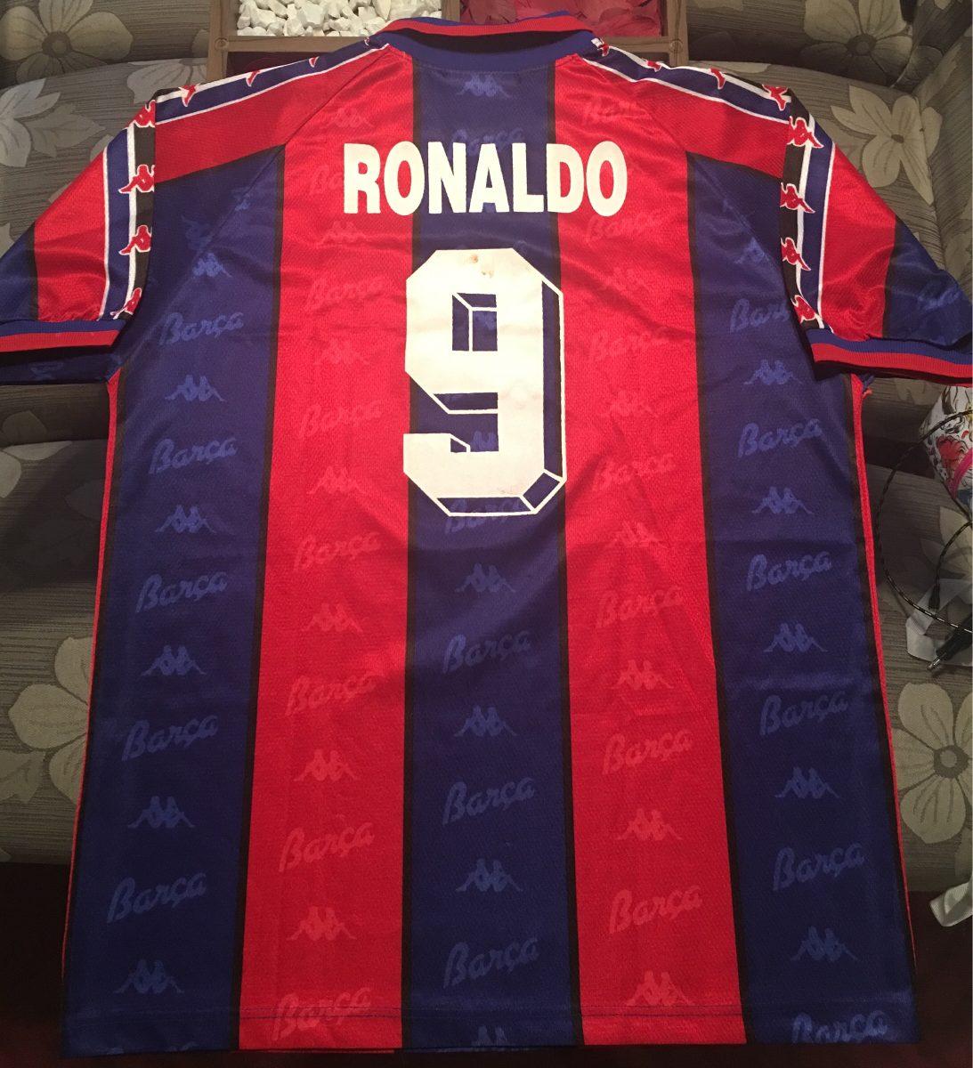 Camisa Barcelona 1996   Ronaldo Fenômeno 9 - R  499 091c25ddd8f23