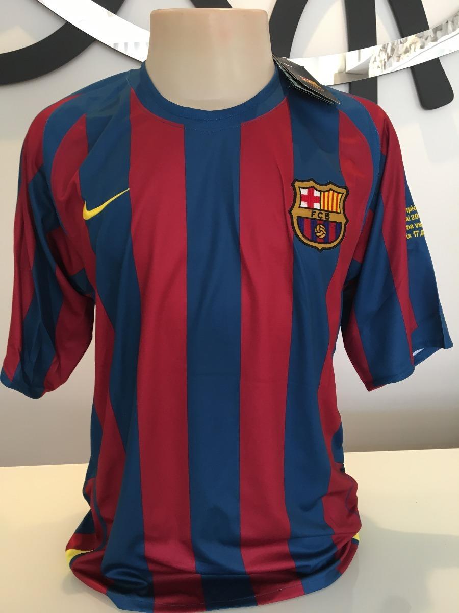camisa barcelona 2005 2006 final champions -  10 ronaldinho. Carregando  zoom. 305b56d0c43d2