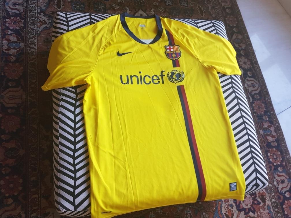 camisa barcelona 2008 2009 amarela nike oficial jogo ucl g. Carregando zoom. 1a24bfe7b3dee