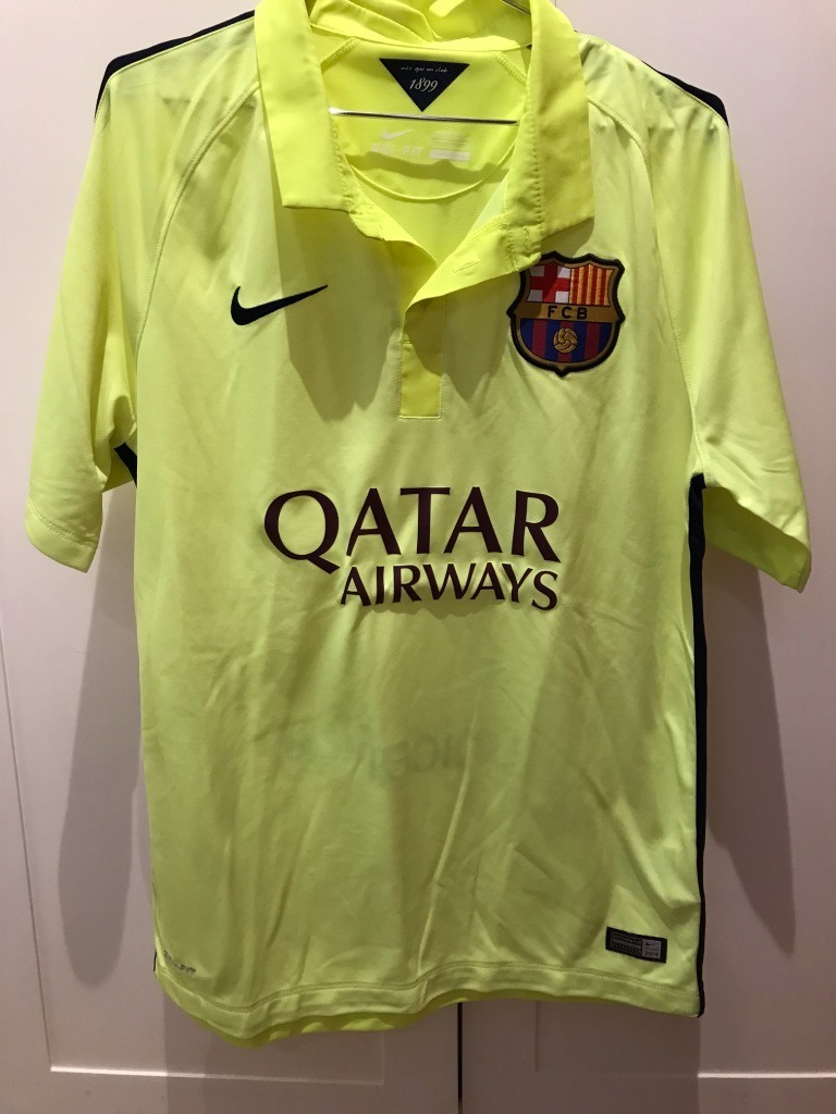 Camisa Barcelona 2014 15 - Alternativa (amarela) - R  120 ab624788f1110