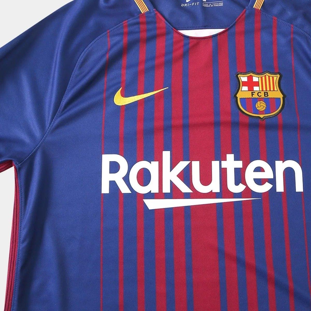camisa barcelona 2017   2018 original nike listrada - 88. Carregando zoom. 9f7edcfb761
