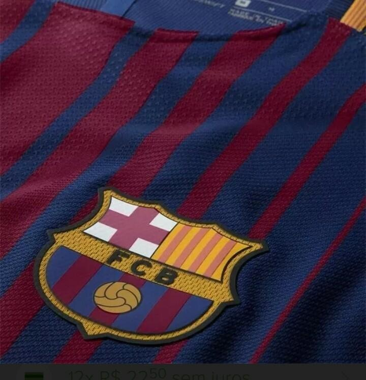 4e75f21dd7 Camisa Barcelona 2017 2018 Oficial S n Champions Nova - R  139