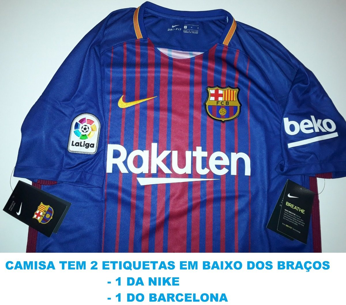 camisa barcelona 2018 100% original nike - 88. Carregando zoom. f05ad18bce6
