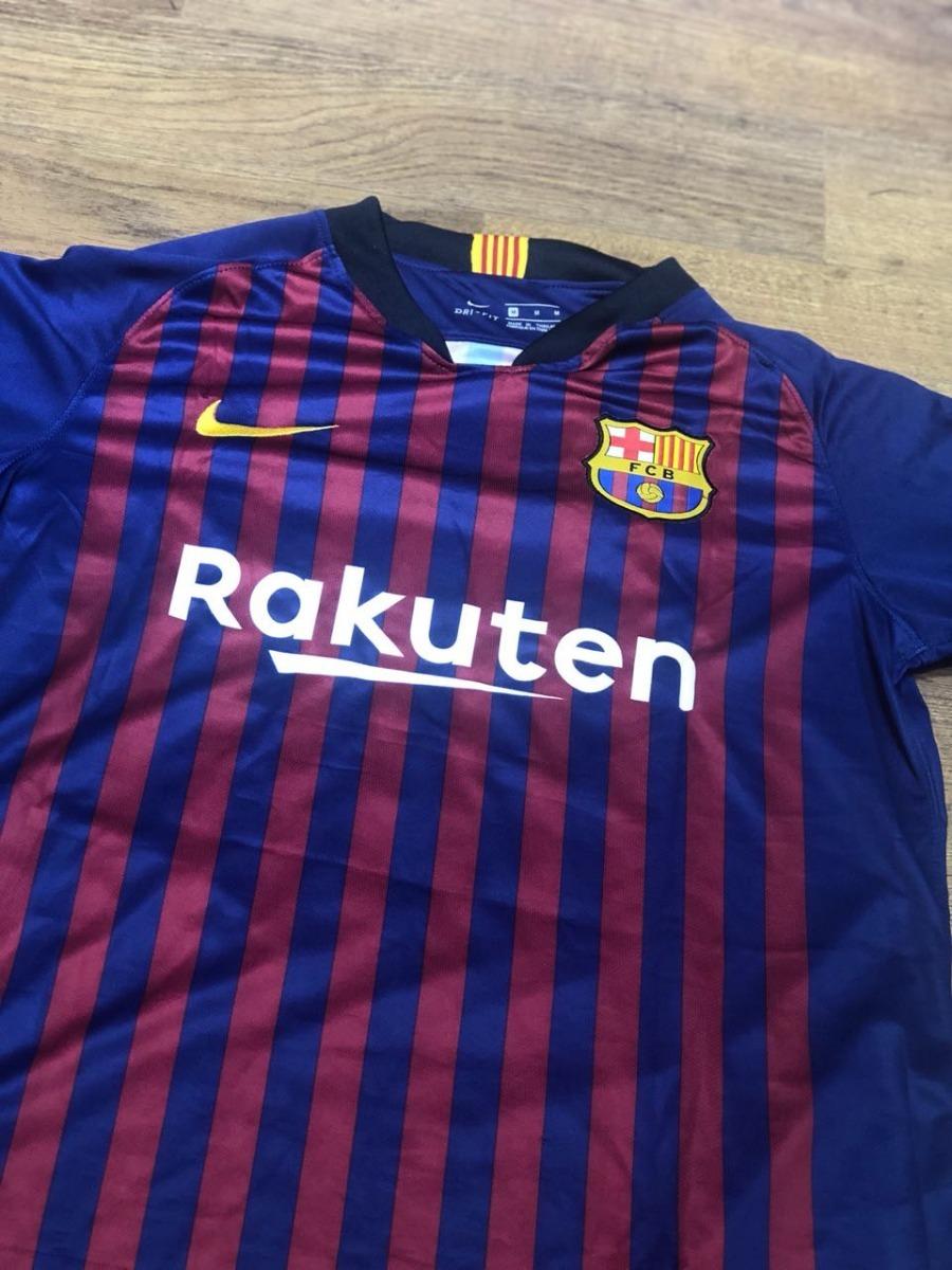 4dc889c50e8f3 camisa barcelona 2018 2019 messi 10 + patch original. Carregando zoom.