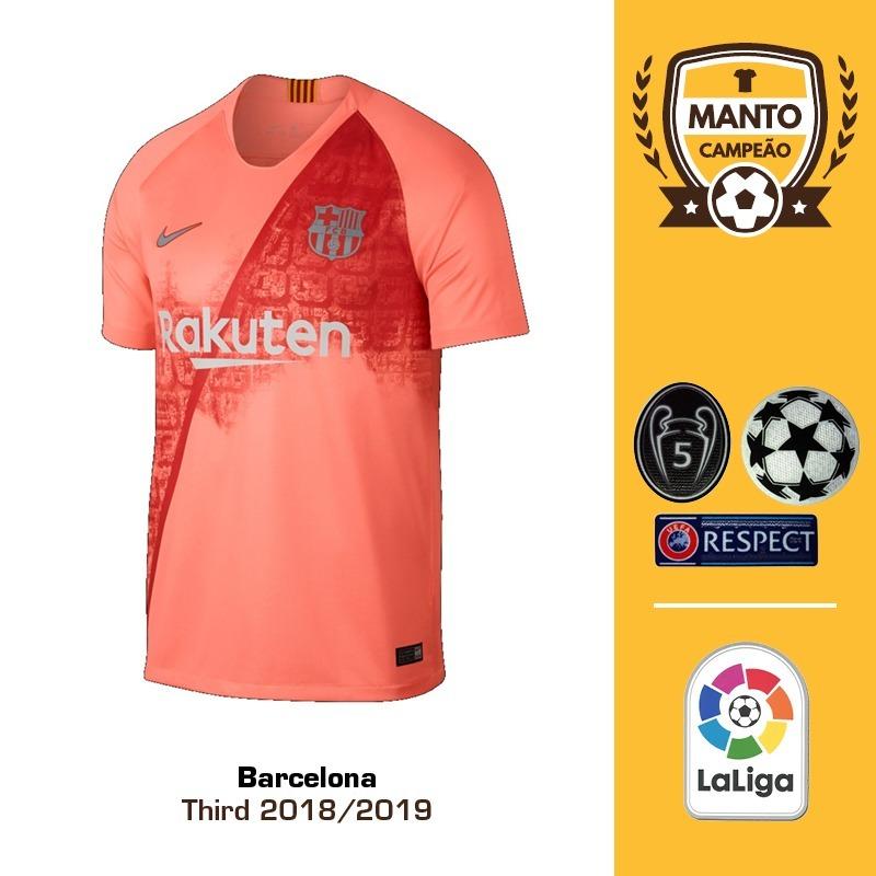 Camisa Barcelona 2018 2019 Third Uniforme 3 Messi Suárez - R  125 391e49da952c6