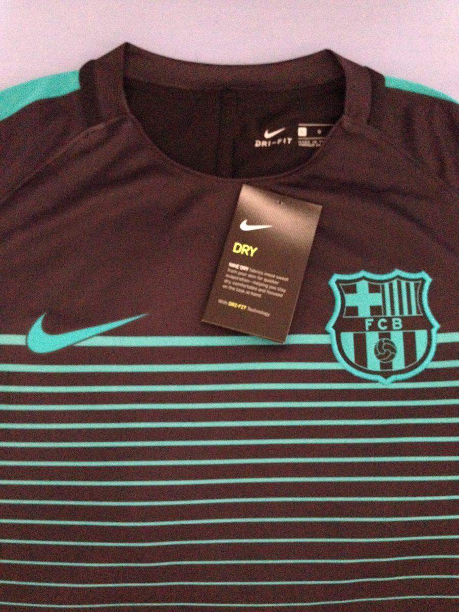 Camisa Barcelona Authentic Football Dri-fit Preta G Nike - R  120 56618705867e2