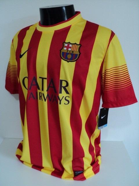 8d65450ff8b7c Camisa Barcelona Away 13-14 Mascherano 14 Importada - R  180