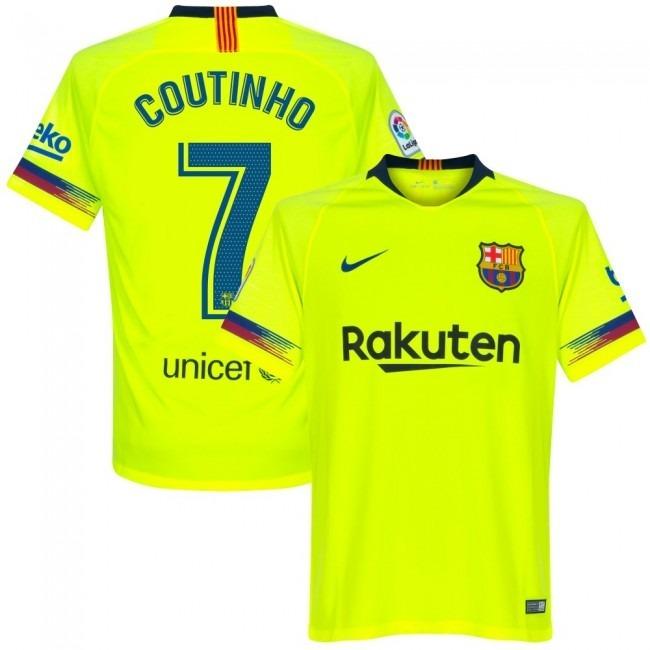 ce168eb6ff Camisa Barcelona Away 18-19 Coutinho 7 Importada - R  160