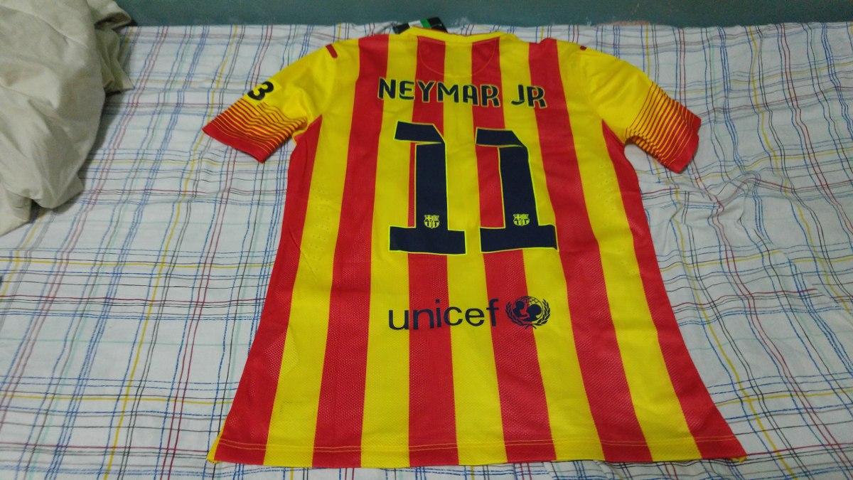 Camisa Barcelona Away Listrada Jogo  11 Neymar Nova Nike - R  129 9486be015cb8b