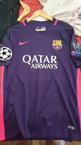 f8066f75a7 Camisa Barcelona Away Roxa E Rosa Neymar Jr (2015 2016) - R  149