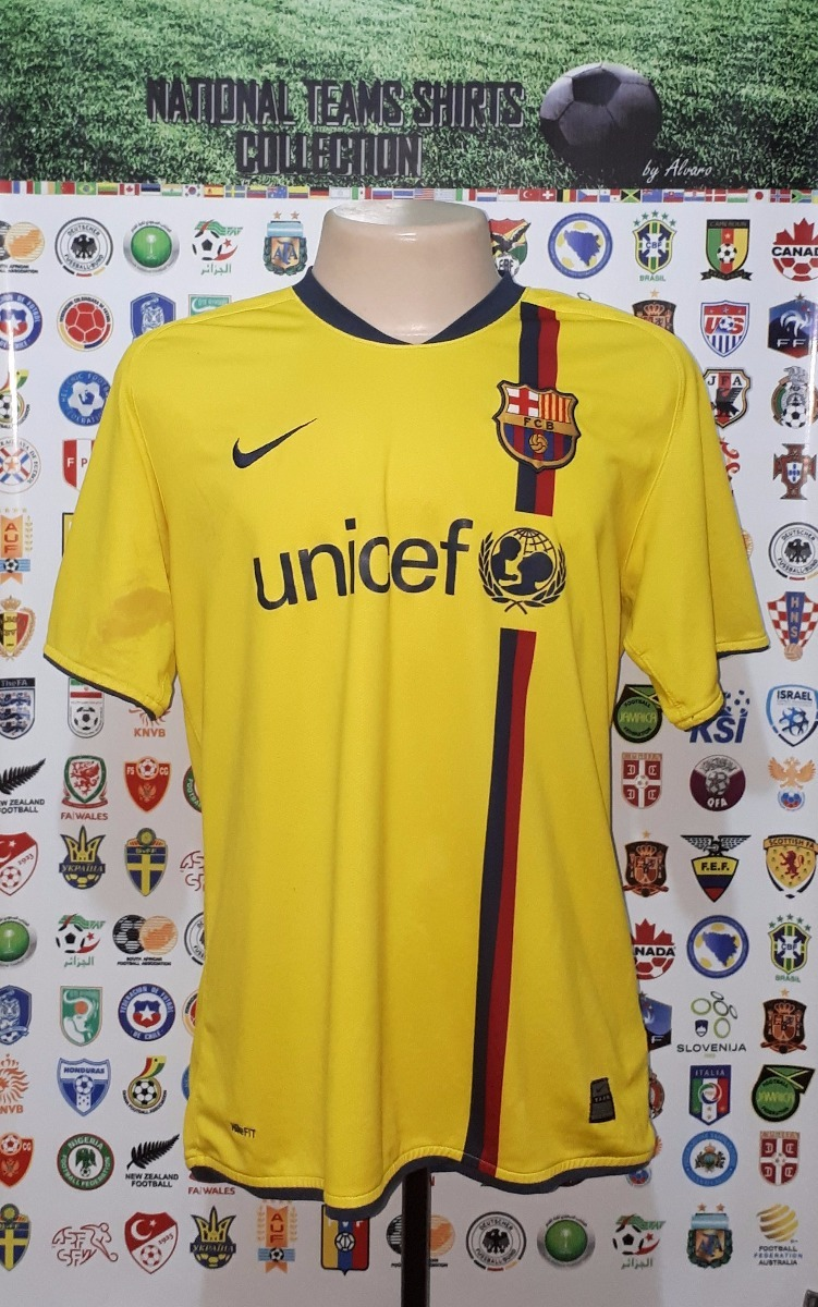 camisa barcelona espanha 2008 away nike tam g (detalhe). Carregando zoom. 911d68fa16381