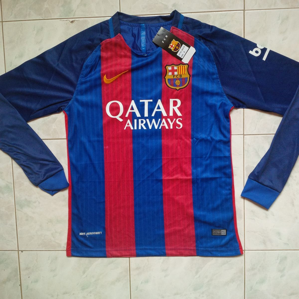 camisa barcelona fc local 2016 2017 manga larga adulto. Cargando zoom. e69077f4ef8