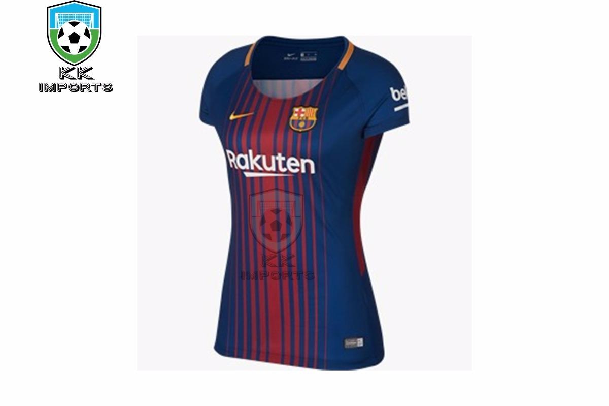Camisa Barcelona Feminina 17 18 Unif 1 Sob Encomenda - R  170 1159f944f8ec4