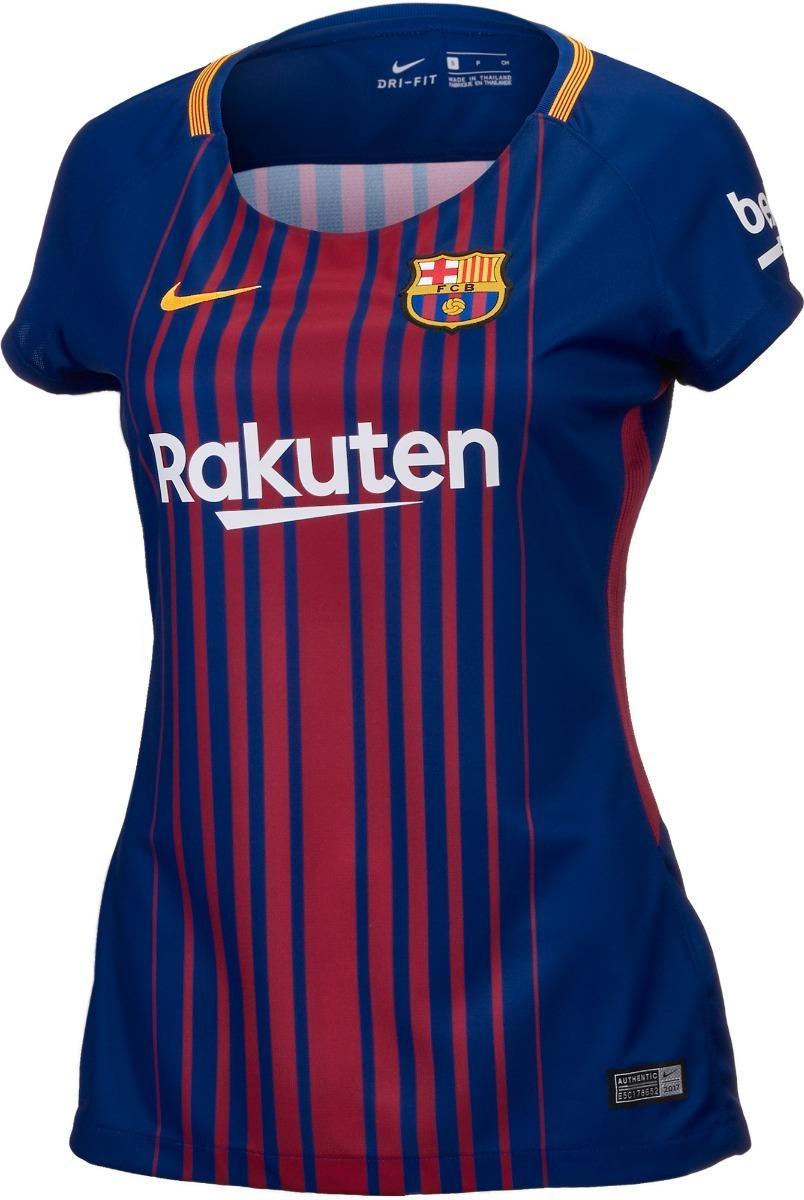 camisa barcelona feminina 2018. Carregando zoom. 2106a571c025d
