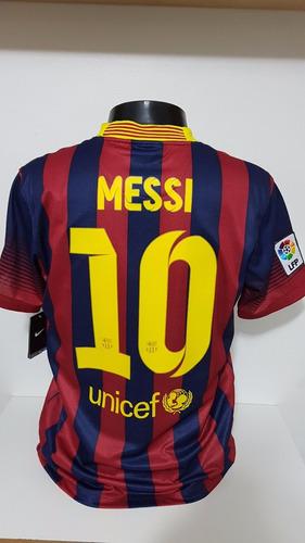 camisa barcelona home 13-14 messi 10 supercopa importada