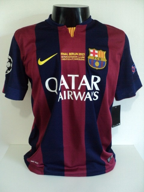 Camisa Barcelona Home 14-15 Messi 10 Final Champions Imp - R  200 66cc2a8709bd9