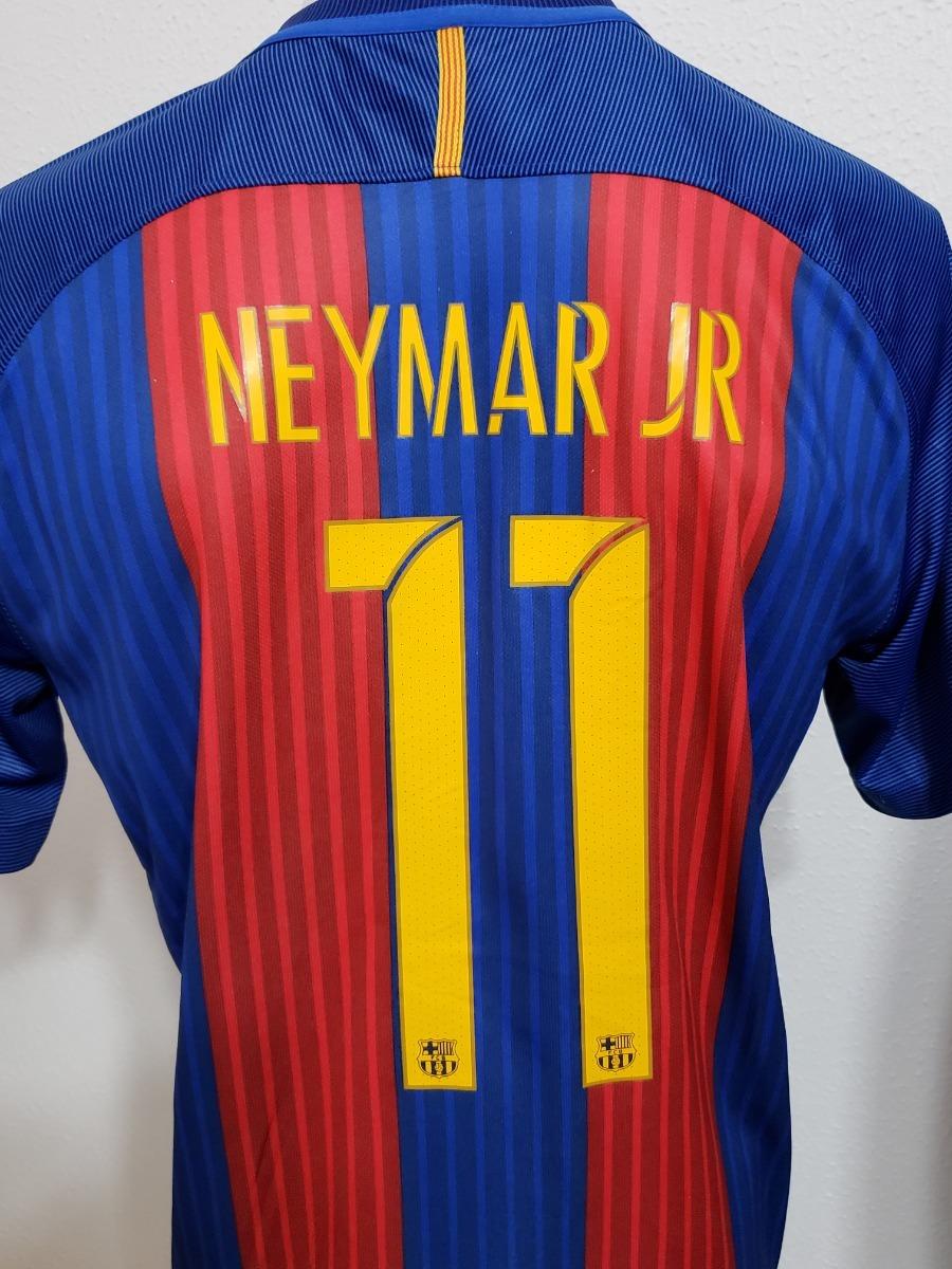Camisa Barcelona Home 16-17 Neymar Jr 11 Final Copa Do Rey - R  160 ... 85f96bd4109c9