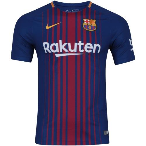 Camisa Barcelona Home 17 18 C nº Versão Jogador Nike - Messi - R ... 201cad2369ab5