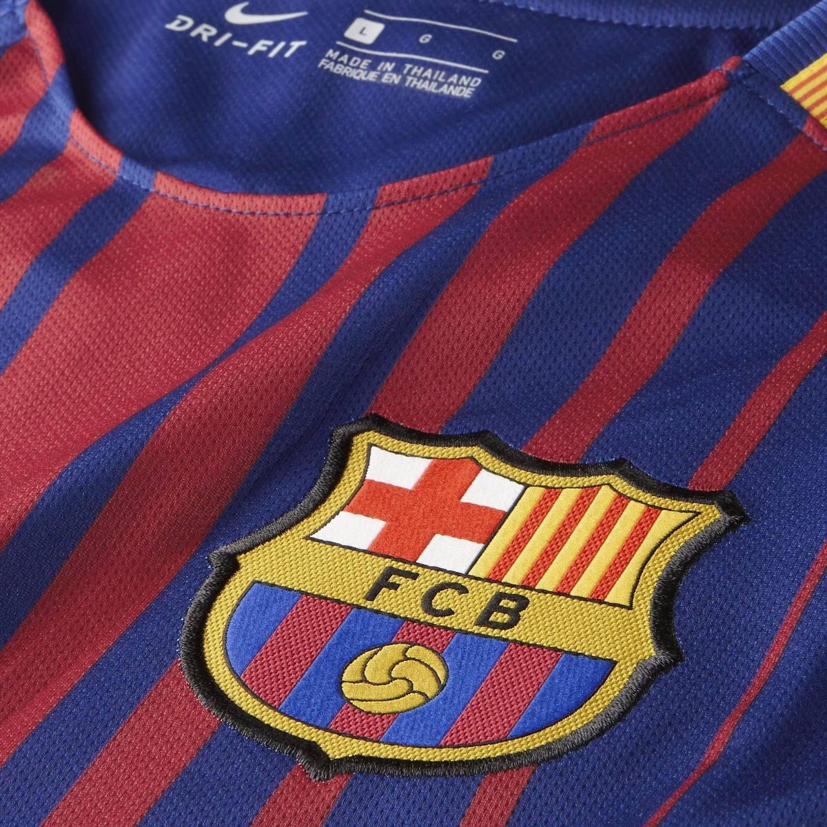 camisa barcelona home 17 18 s nº breathe -torcedor nike masc. Carregando  zoom. 03bc0efc41621