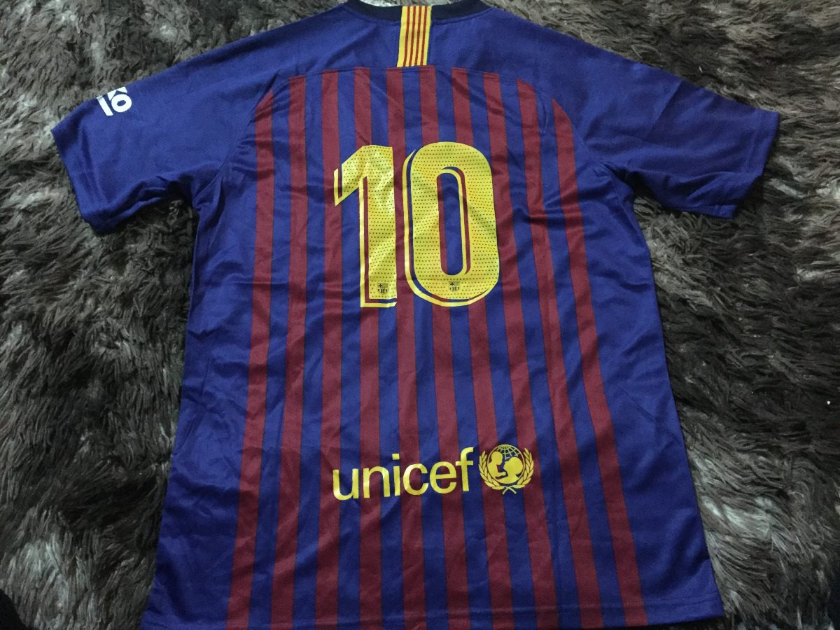 6e0cbd612db85 Camisa Barcelona Home 18 19 Uniforme 1 Suporte Ao Torcedor - R  55 ...