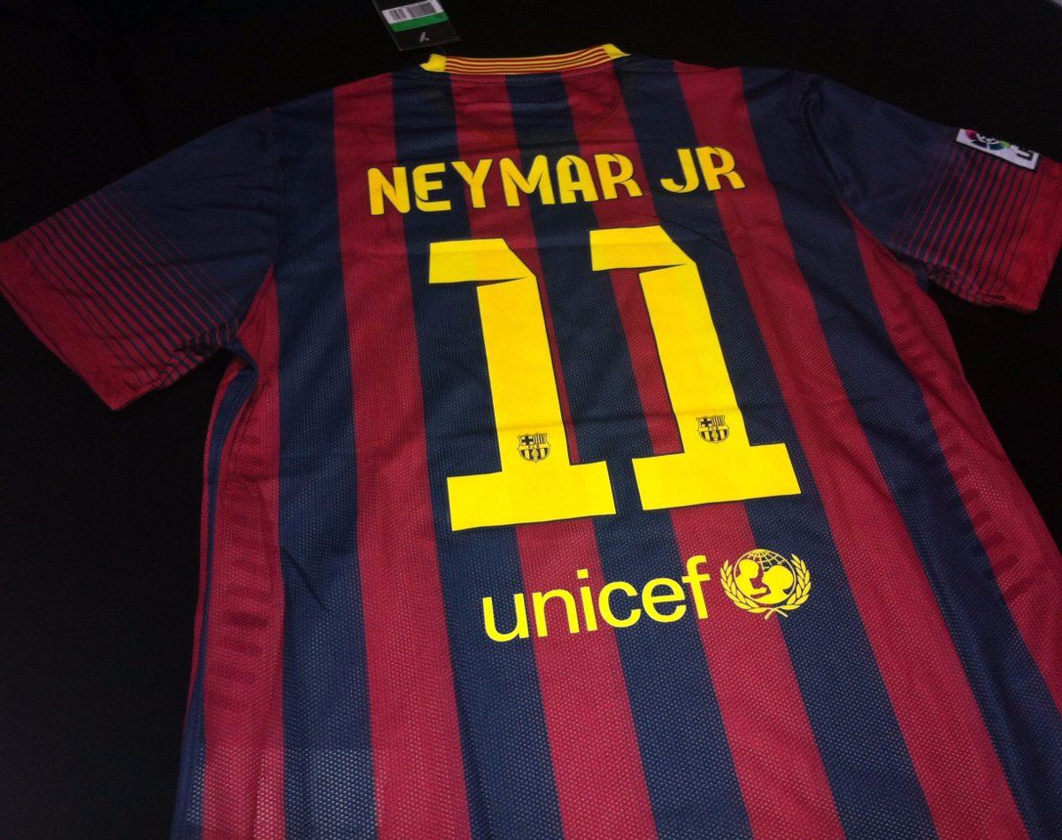 camisa barcelona home 2013  11 neymar jr. tam. gg. Carregando zoom. 1373887dc332f