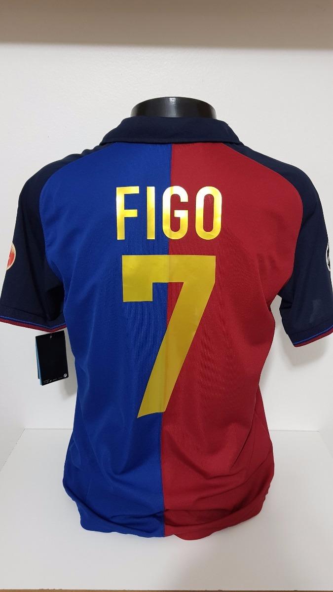 403c5bd0c001e camisa barcelona home 99-00 figo 7 centenário importada. Carregando zoom.