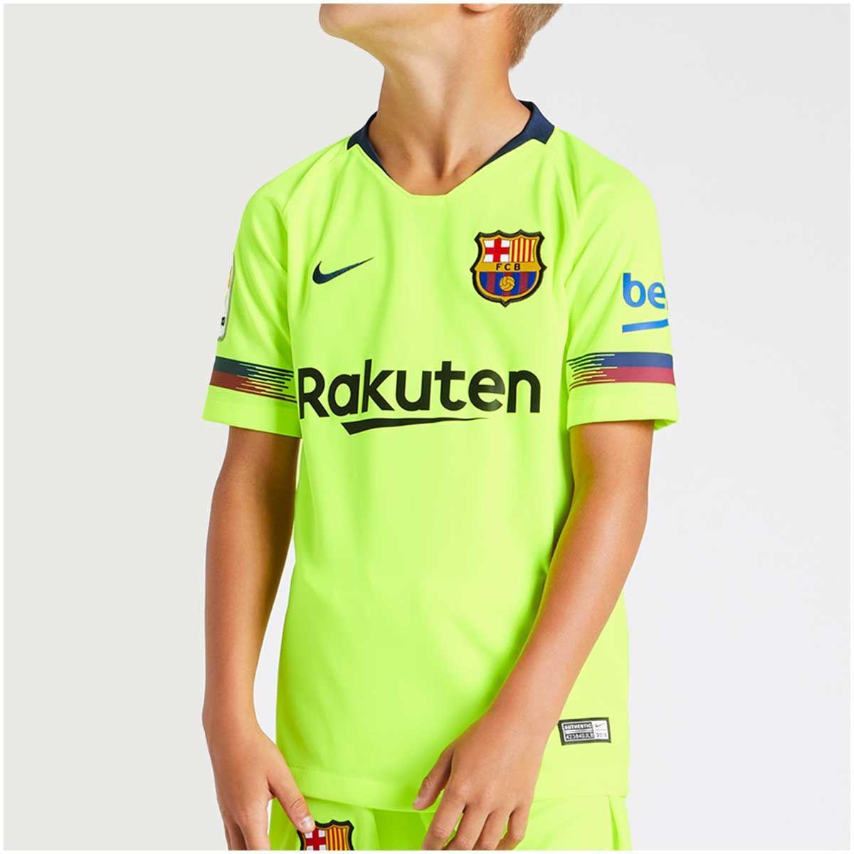 3f3bb77ef127f Camisa Barcelona Ii 2018 2019 Infantil Amarelo - R  229