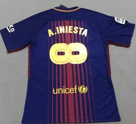 Camisa Barcelona Iniesta Despedida 2018 Frete Grátis - R  219 c8cefd6e41cbb
