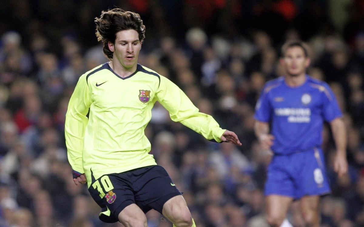 Camisa Barcelona Limao Champions 2005-06 Messi 30 À P/ Ent - R ...