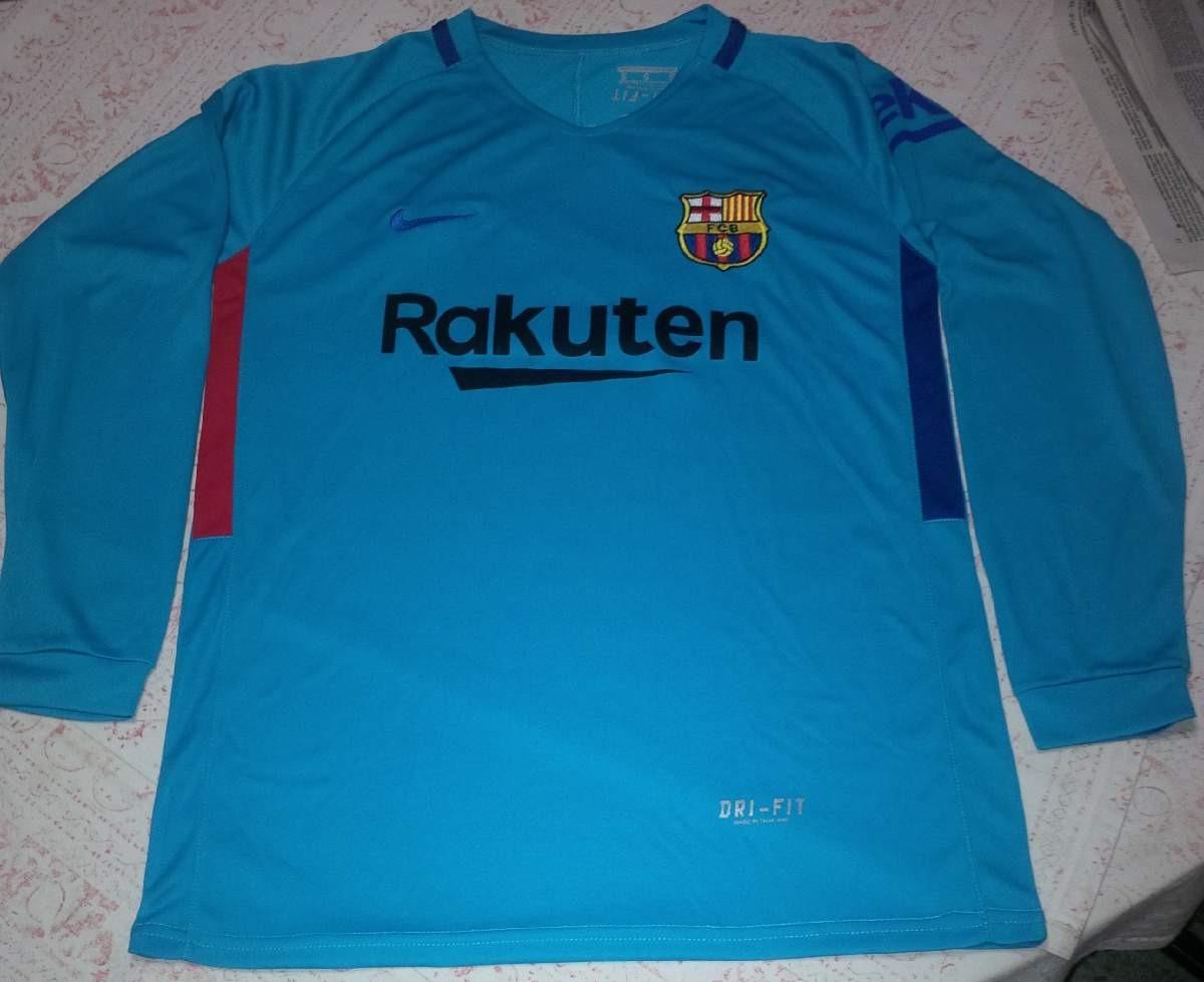 93f753d024e62 Camisa Barcelona Manga Larga Adulto