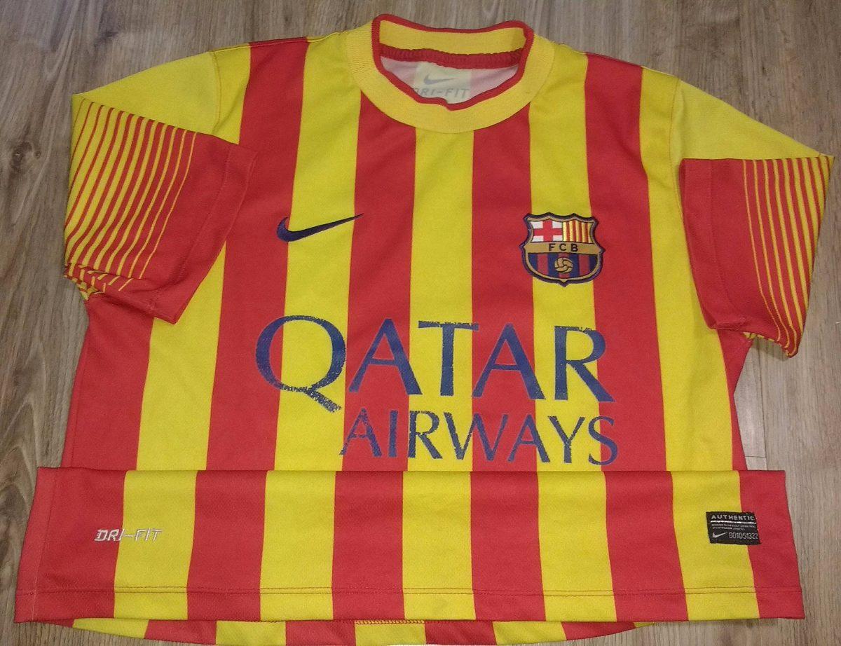 Camisa Barcelona Neymar Jr Vermelha E Amarela Nike - 14 - R  119 4e2fe9232bce2