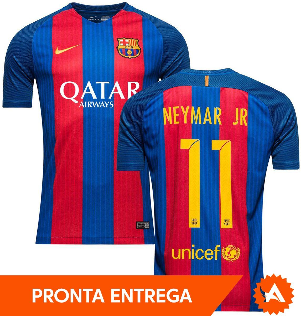 camisa barcelona nike home 2017 nº11 neymar jr modelo jogado. Carregando  zoom. 17c9f7070ad3c