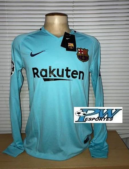 Camisa Barcelona Nike Manga Longa 2018  10 Messi - R  199 4a9fc24e59baf