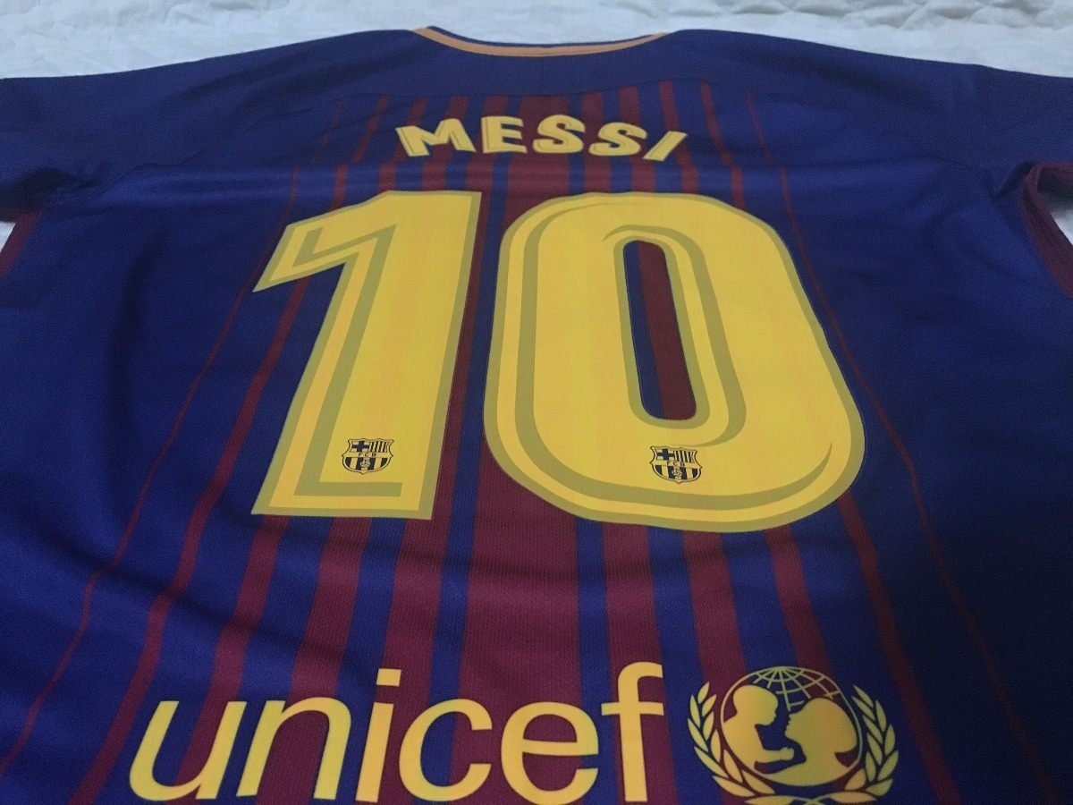 camisa barcelona nike oficial 17 18  10 messi m home nova. Carregando zoom. e2dcc5b1623de