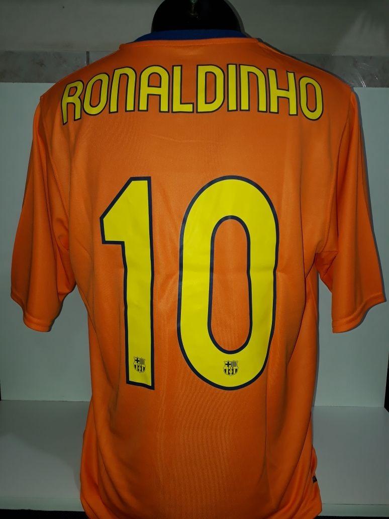 Camisa Barcelona Nike Ronaldinho Gaúcho Oficial Numerada Tem - R ... 76a7374a7868c
