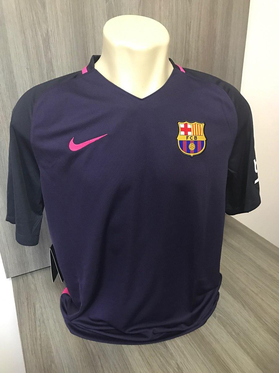 2b1b3f5fe3028 camisa barcelona nike roxa - rosa 2016 messi neymar suarez. Carregando zoom.