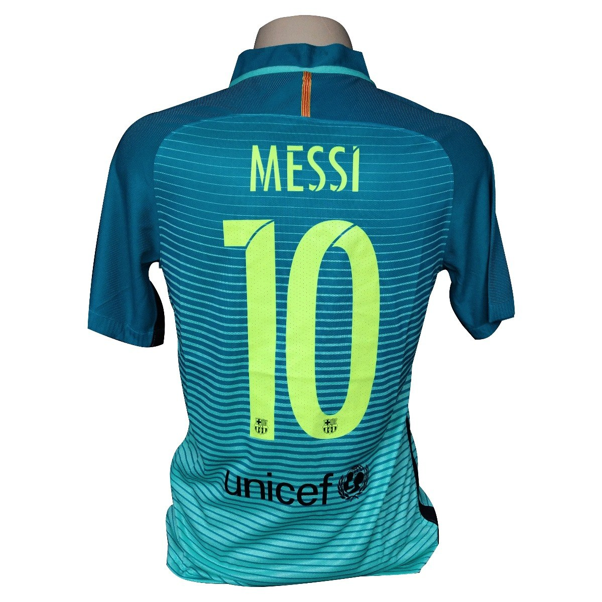 camisa barcelona nike third player 16 17  10 messi. Carregando zoom. 83ee29f62424e