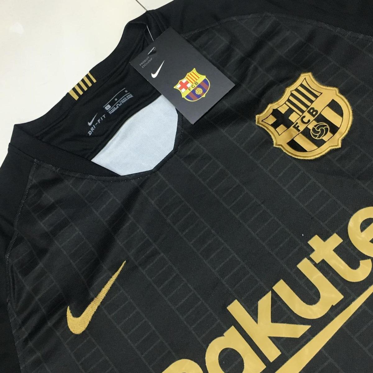 camisa barcelona preta 2018 2019 frete gratis. Carregando zoom. 527e2b08c996a
