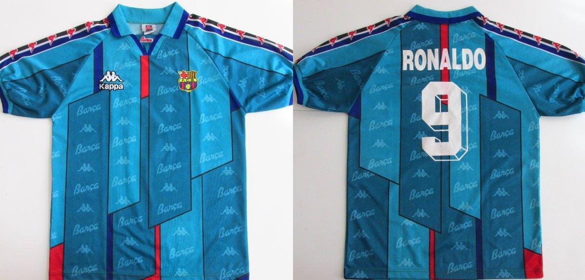 35fdaae4c790c camisa barcelona ronaldo  9 1996 kappa 100% original. Carregando zoom.