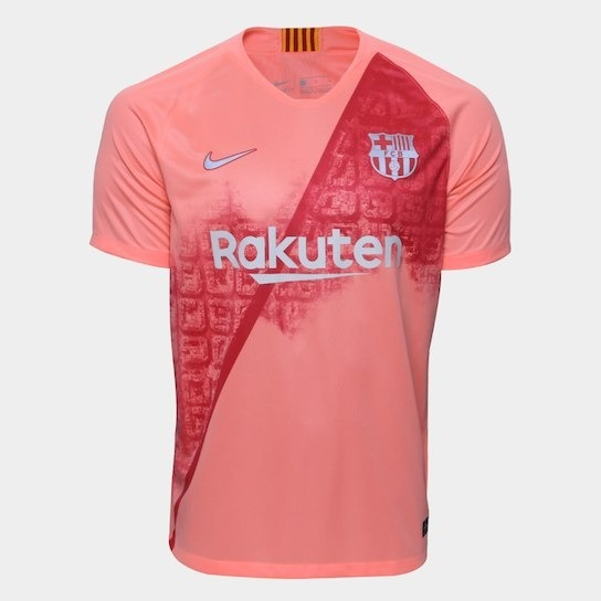 09d2d88d3 Camisa Barcelona Temporada 2019 Sem Número E Sem Nome - R  129