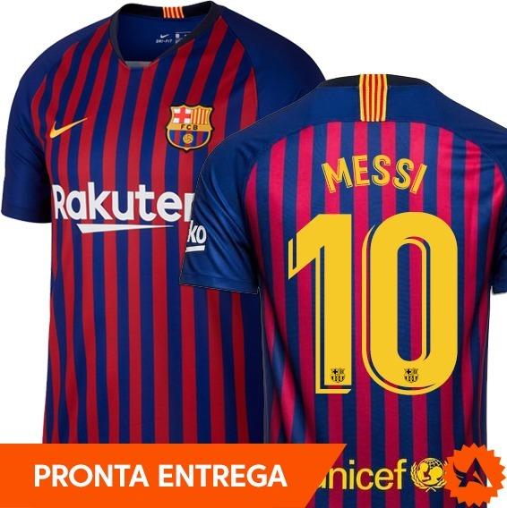 39644a8df1 Camisa Barcelona Titular Nº10 Messi 2018 2019 - Oficial - R  169